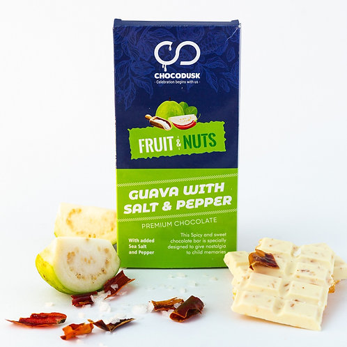 Fruit & Nuts with Guava Flavoured Premium Chocolate Bar, 85 Gram