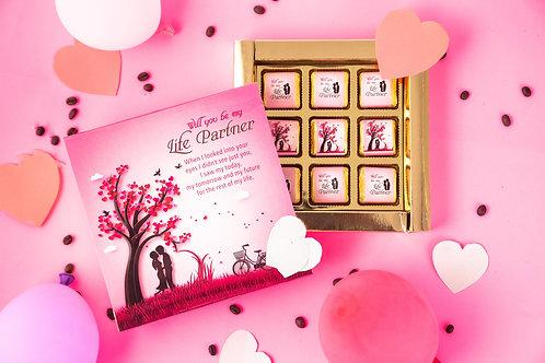 Will You Be My Life Partner Chocolate Gift Box, 180 Gram