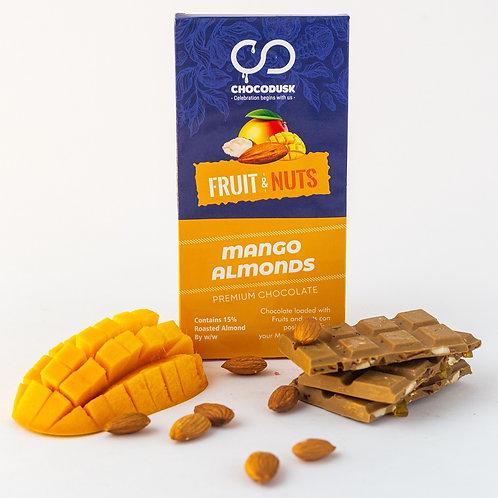 Fruit & Nuts with Mango Flavoured Premium Chocolate Bar, 85 Gram