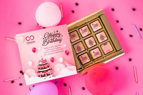 Happy Birthday Chocolate Gift Box, 180 Gram