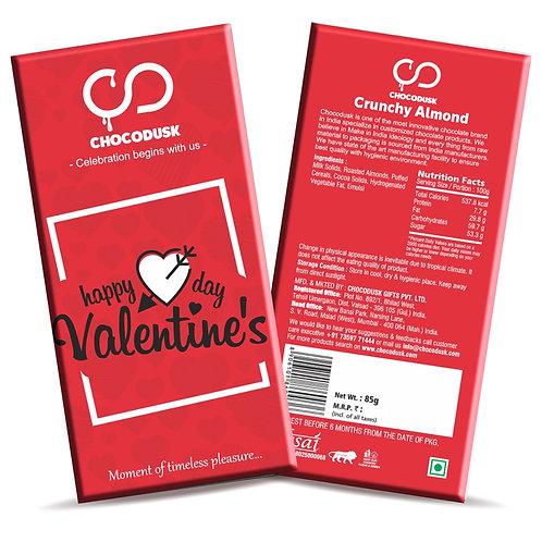 Happy Valentine's Day (Red) Chocolate Bar