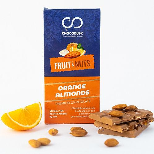 Fruit & Nuts with Orange Flavoured Premium Chocolate Bar, 85 Gram