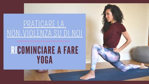 Pratica per ricominciare a fare Yoga