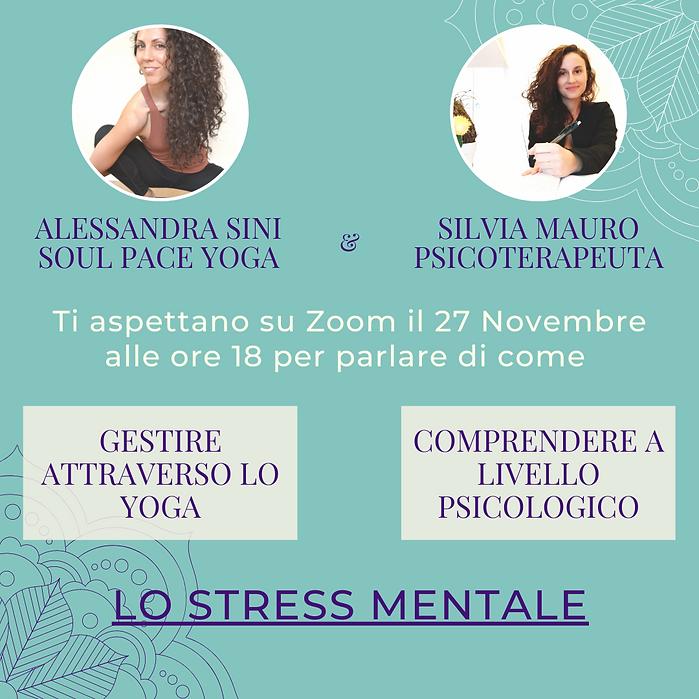 Webinair Yoga e Psicologia Alessandra Sini e Silvia Mauro Psicoterapeuta