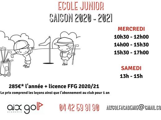 École junior 2020-21