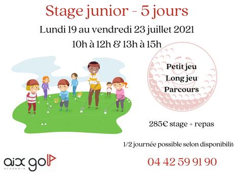 Stage Junior Juillet 2021 ⛳😎