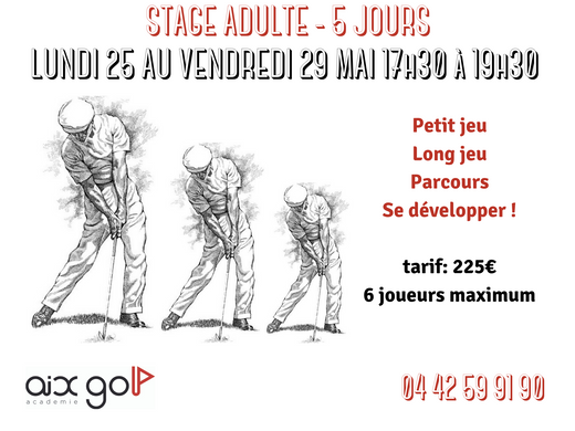 STAGE ADULTE 5 JOURS