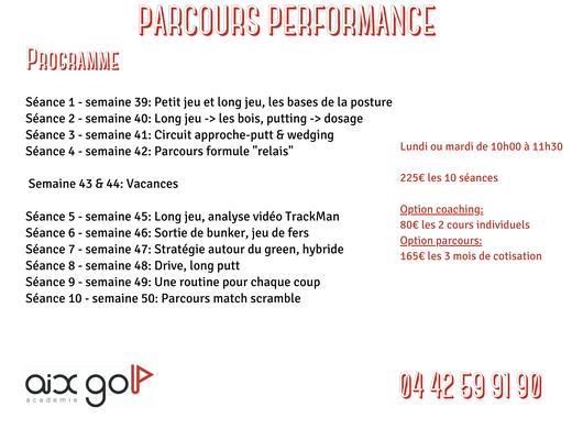 Parcours Performance