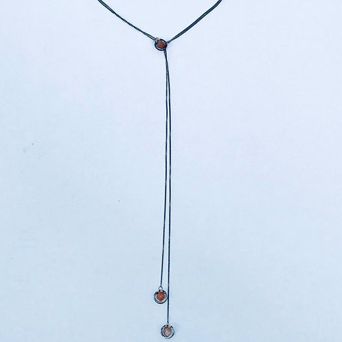 Peach Moonstone Lariat