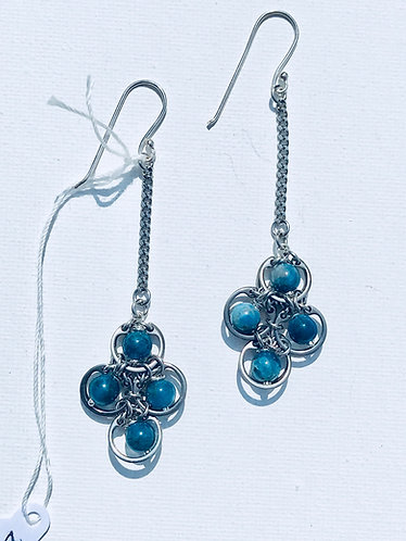 4 Station Apatite Drop Earring