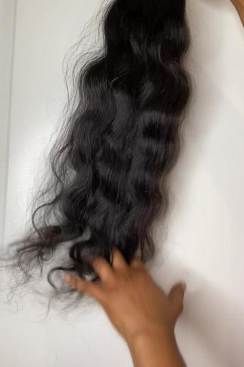 South Indian Raw Hair Wavy 24 inch Bundle