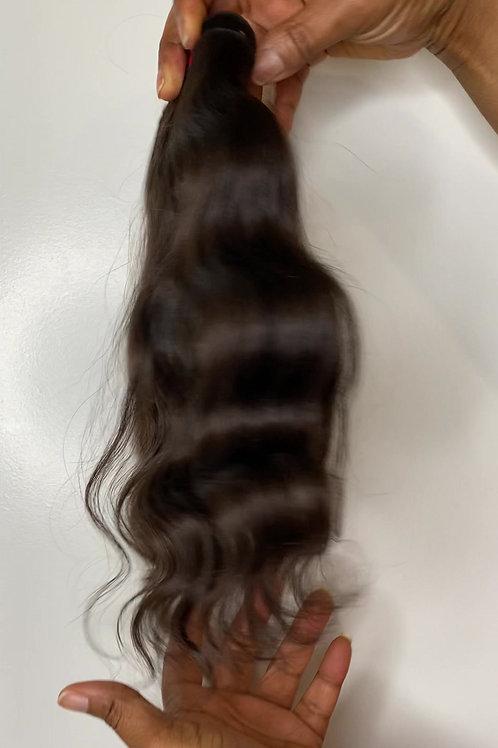South Indian Raw Hair Wavy 12 inch Bundle