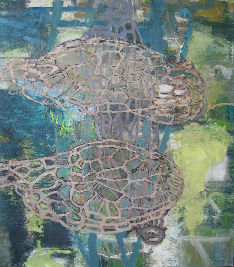 zonder titel, gemengde techniek op doek 130 x 115 cm 2003.jpg