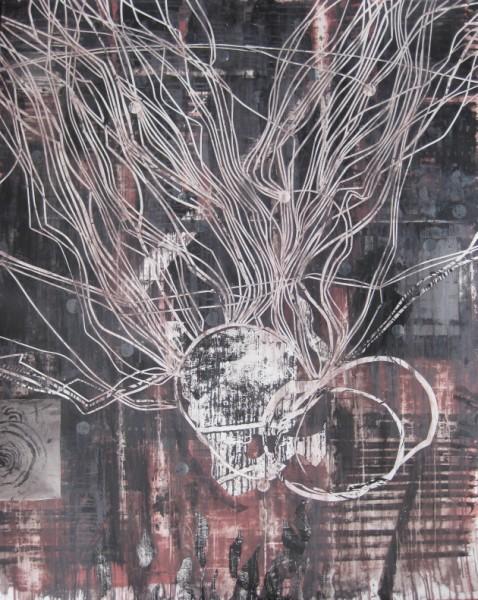 zonder titel, collage op papier