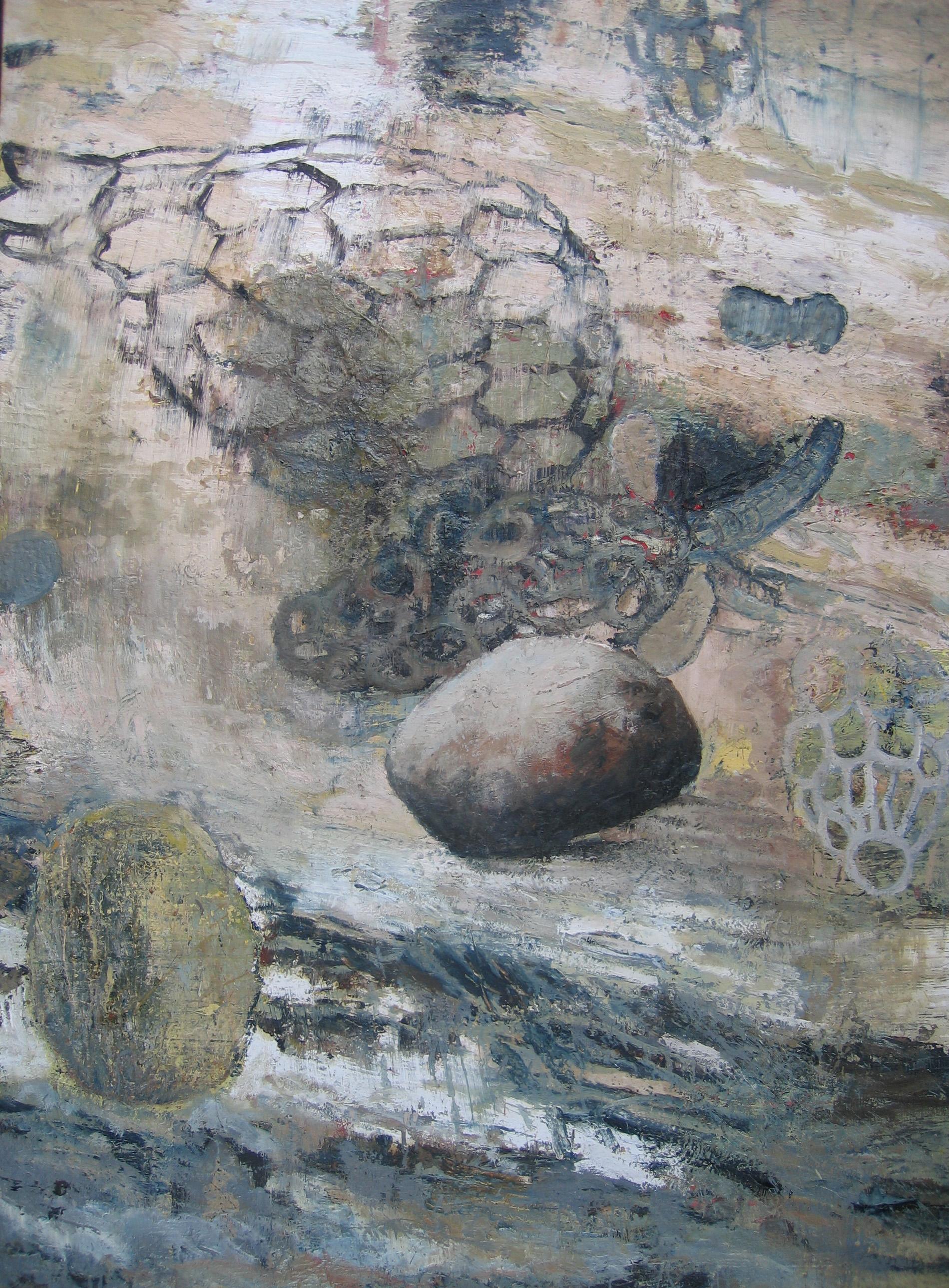 zonder titel, gemengde techniek op doek 180 x 130 cm 2003.JPG