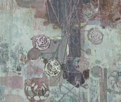 zonder titel,110 x 130 cm, gemengde techniek op doek