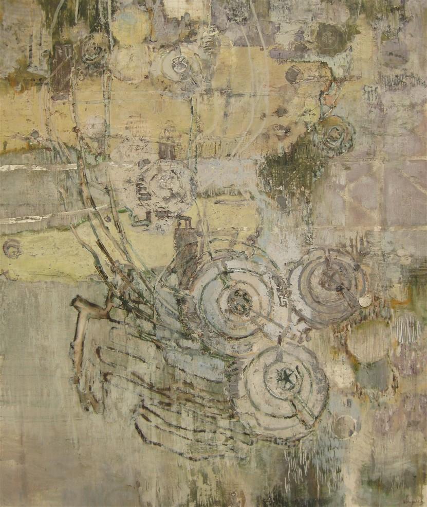 zonder titel, 180 x 150 cm, gemengde