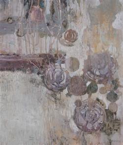 zonder titel,130 x 110 cm, gemengde techniek op doek
