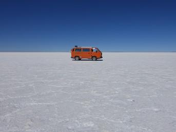 Inmitten des grössten Salzees der Erde