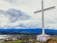 温岛大型十字架疑遭人恶意拆除