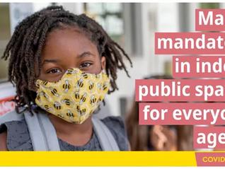 BC省5岁以上儿童于公共场所也要戴口罩