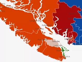 2021联邦大选开票,温岛仍是一片橘色