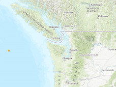 温岛外海周一再度发生地震