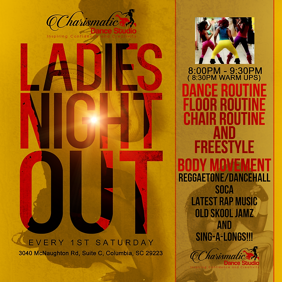 ladies night out charismatic dance dance party reggea hiphop twerk