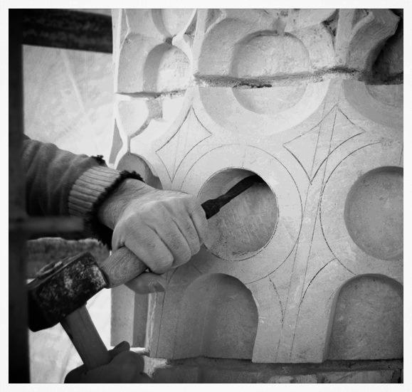 Taille de colonnes torses