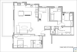 תכנית הדירה לאחר השינוי