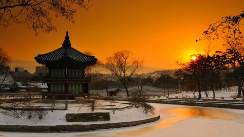 Seoul Palace Sunset