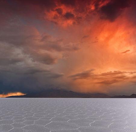 Sunset on Salar de Uyuni, Boliva