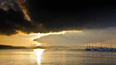 Oslo Harbor Sunset