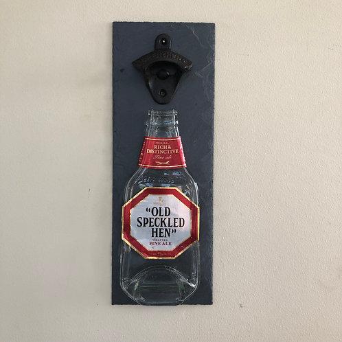 Old Speckled Hen Slate Bottle Opener