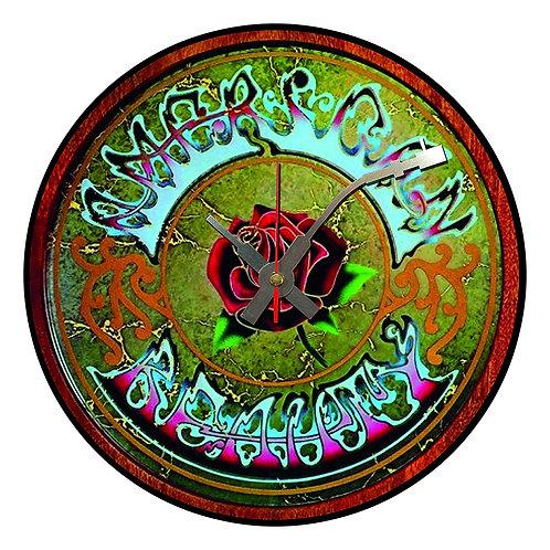 Iconic American Beauty , Grateful Dead,   Vinyl Wall Clock