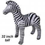 "Inflatable Zebra 32"" tall"