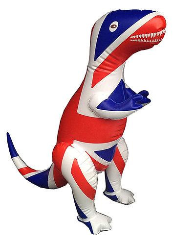 Inflatable Union Jack Dinosaur
