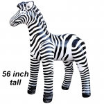 "Large Inflatable Zebra 56"" Tall"