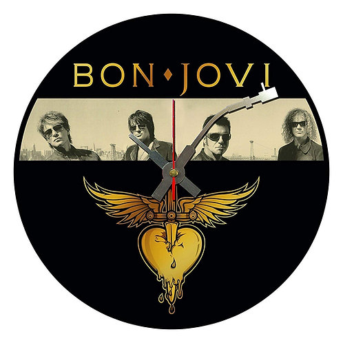Iconic Bon Jovi Vinyl Wall Clock
