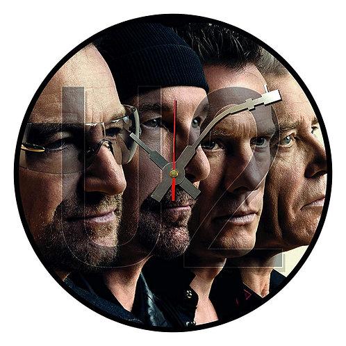 Iconic U2 Vinyl Wall Clock