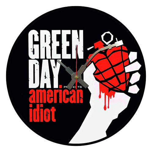 Iconic Green Day American Idiot Vinyl Wall Clock