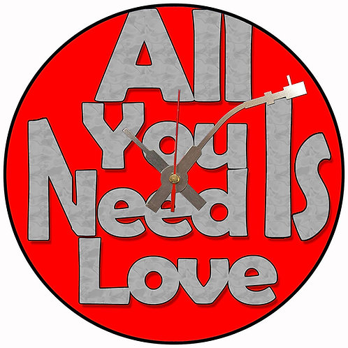 Iconic All You Need Is Love Beatles Vinyl Wall Clock