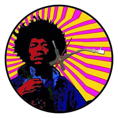 Iconic Jimi Hendrix Sunset  Vinyl Wall Clock