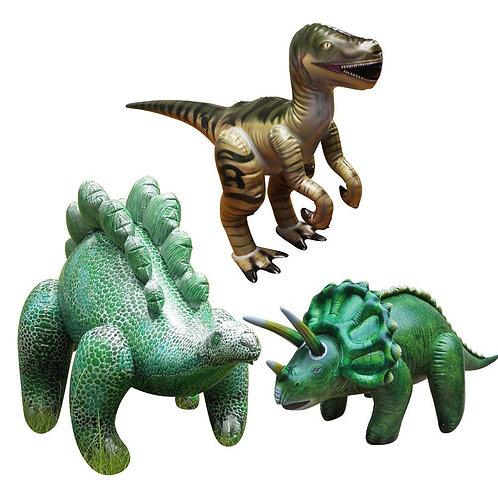 Triple Pack Dinosaurs Velociraptor, Stegosaurus and Triceratops