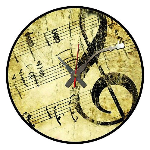 Iconic Sheet Music Vinyl Wall Clock