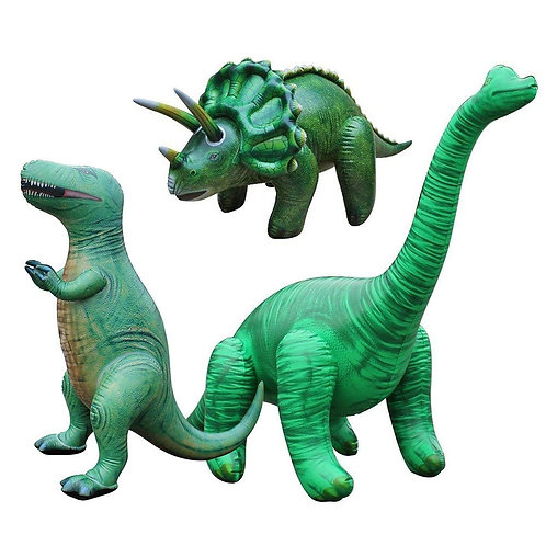 Inflatable Dinosaurs 3 Pack Trex Brachiosaurus and Triceratops