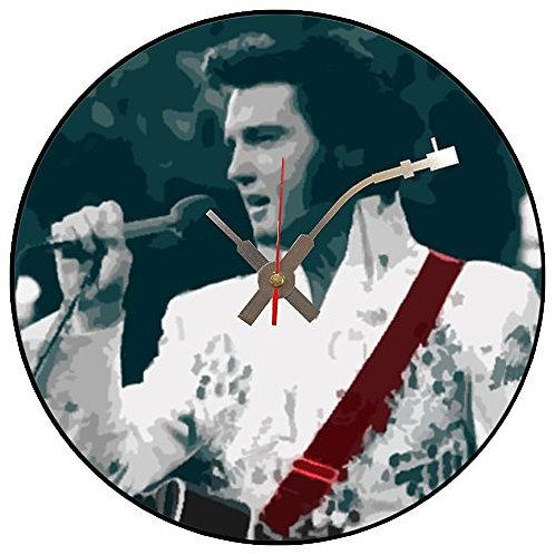 Iconic Elvis Presley Vegas Vinyl Wall Clock