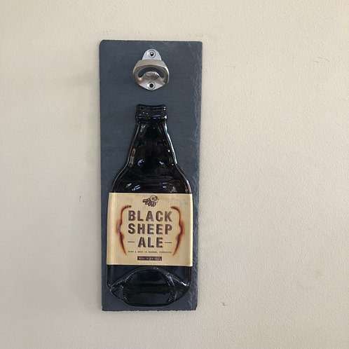 Black Sheep Ale Slate Bottle Opener