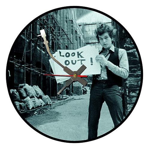 Iconic Bob Dylan Vinyl Wall Clock