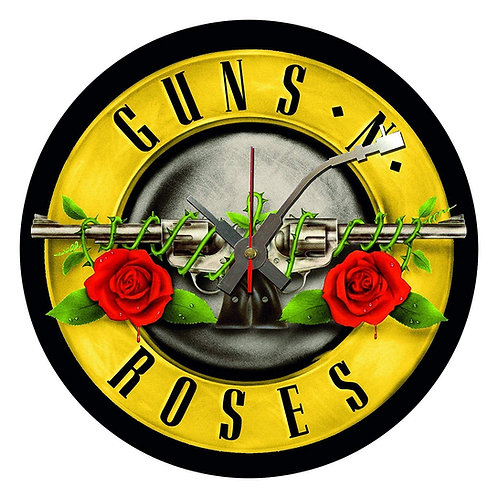 Iconic Guns and Roses Vinyl Wall Clock
